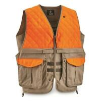 Mens Upland Vest Hunting Clothing Polyester Accents Plentiful Pockets Storage