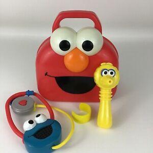 Sesame Street Doctor Medical Kit Elmo Carry Case Big Bird Cookie Monster Mattel