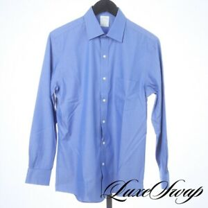 NWT Brooks Brothers French Blue Supima Cotton Milano Fit Solid Dress Shirt 15 32