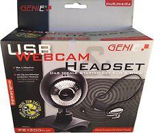 Genie Set Webcam und Headset Kopfhörer PB1300 + NEU