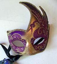 Purple/Gold Glittered Masquerade Mask/Balls/Fancy Dress/Haloween/HenNight Party