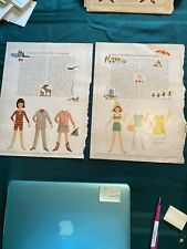 Betsy McCall Paper Dolls 1966 - 2 pages - Yellowstone and Beach Party -Good