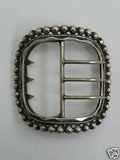 boucle de ceinture chaussure chapeau XIX argent massif buckle belt sterling 19th