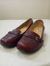 Softspots Womens Shoes Size 9 N Red Albany Leather Comfort Slip On Work Wear
