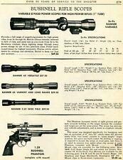 1967 Print Ad of Bushnell Rifle Scopes Banner Versatile Varmint & Phantom