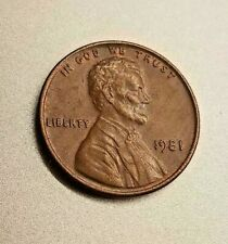 1981 Lincoln Penny ~ No Mint Mark + Denver Mint / (2) Coins