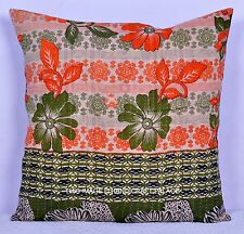 """Patchwork Multicolor Pillow Case Cotton Kantha Cushion Cover Handmade Throw 20"""""""