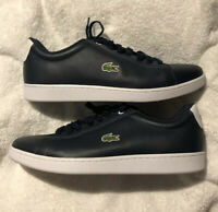 NEW LACOSTE ORTHOLITE MENS SNEAKERS(11) HYDEZ 118 1 P NAVY/WHITE LEATHER