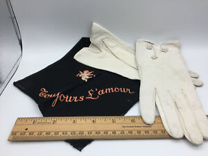 Vintage Soft Leather Washable Gloves Size 7 1/4 made in France from Saks 5th Ave