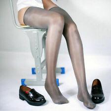 1den Ultra Sheer Glänzend Halterlose Strümpfe Öl Effekt Transparent Stockings
