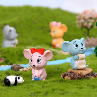 Cute Mouse DIY Mini Miniature Fairy Garden Ornament Craft Dollhouse Accesso EB