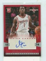 ISAIAH CANAAN 2013-14 Panini First Impressions Rookie Auto Autograph #4