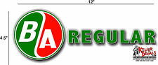 "(BA-2) 12"" BA B A REGULAR GASOLINE OIL VINYL DECAL FOR ANY GAS SIGNS LUBESTERS"