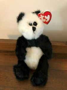 Original Ty Beanie Babies Baby Retired Checkers the Panda 1993 Arms Legs Move