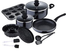 Kochtopf-Set Kochset Bratpfanne Stielkochtopf Backset Muffinform Gugelhupfform