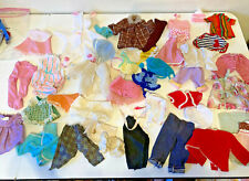 """Baby Doll Clothing Vtg 1950 to 1970's 44 pcs Lot fits 10"""" to 14"""" Knits Fur Coat"""