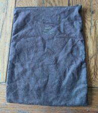 Vintage Pacific Silver Cloth Rectangle Zippered Bag Tarnish Free 9� X 12� Brown