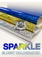 "Vinyl Sparkle Holographic Fabric 54"" Wide Sold by the Yard"