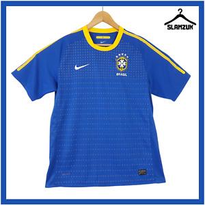 Brasil Football Shirt Nike L Large Away Soccer Jersey Brazil CBF 2010 2011 E24