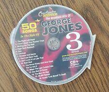 GEORGE JONES GREATEST HITS 3 COUNTRY KARAOKE CDG 16 SONGS 5074-03 HONKEY TONK
