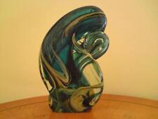 Sculpture Blue Contemporary Original Art Glass