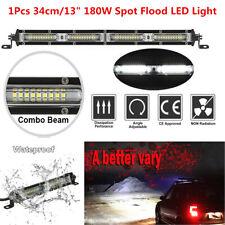 "13"" 180W Spot Flood Beam LED Work Light Bar Car Off Road Roof Driving Fog Lamp"