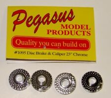 "PEGASUS  1/24-1/25 Chrome 23"" Disc Brakes w/Molded Caliper (4) PGS1095"