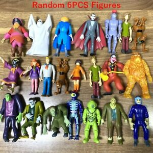 6PCS Scooby-Doo Crew Mates Monster Villians Pirates 5'' Figures Toys Gift Random