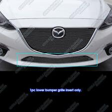 Fits 2014-2015 Mazda 3 Bumper Black Billet Grille Insert