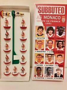 SUBBUTEO - AS MONACO COUPE DE FRANCE 1991 SQUADRA TOP SPIN DIPINTA A MANO+DECALS