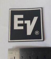 1 ps Electro Voice EV (R) plastic logo badge 50 mm square WHITE text