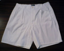 USA Made POLO by Ralph Lauren High Waisted Pleated Cotton Vtg Chino Shorts sz 36