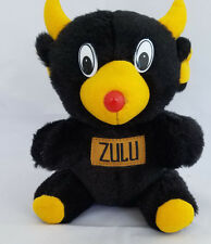 Black Bear/Devil with ZULU on front stuffed/plush animal - 7.5""
