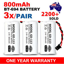 3x NEW 800mAh 2.4V Cordless Telephone Battery For Uniden BT-694 BT-694S NI-MH