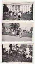 SUPER- 3 Photos- Easter Egg Roll - White House Washington DC 1927 - Construction