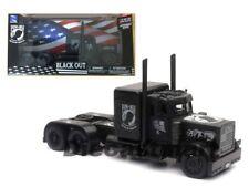 New Ray 1:32 Peterbilt BLACK OUT POW/MIA Veterans' Tribute Semi-Trucks SS-11643