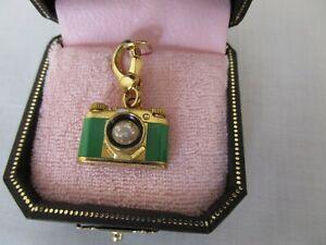 Juicy Couture Green Camera Charm Locket Original Box YJRU1770 Rare