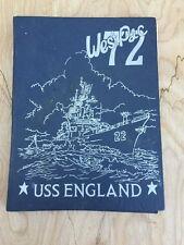 72 WestPac USS England DLG-22 Deployment Cruise Book US Navy War Military 1972