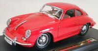 Burago 1/24 Scale Model Car 1521 - 1961 Porsche 356B Coupe - Red