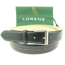 "Lorens ""Jiro""  Men's Classic Dress Leather Belt, Size 32-46"
