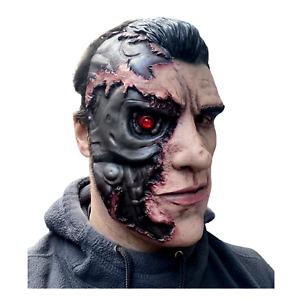 Adult Cyborg Mask Arnold Schwarzeneggar Latex Costume Accessory Robot Terminator