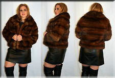 New Skin on Skin Russian Sable Fur Jacket - Size Medium 6 8 M - Efurs4less