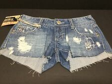 NWT AMETHYST DISTRESSED RIP TORN PATCH LOOK CUT OFF SHORT- SHORTS SIZE 7