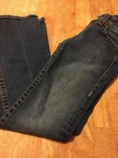True Religion Jeans Yellow Button Womens Size 27 Preowned Broken In Made In USA