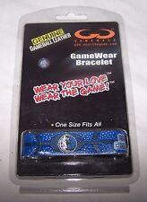 DALLAS MAVERICKS 2011 NBA Champions Blue Leather Basketball Bracelet Wristband