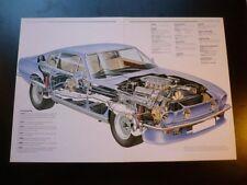 1986 Aston Martin Vantage V8 Sports Car CUT AWAY Drawing POSTER printed in Italy