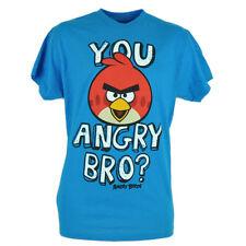 You Angry Bro Birds Phone App Smart Phone Video Game Blue Tshirt Tee Shirt