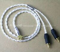 8-core pure silver 3.5mm male to 2RCA male 1 to 2 Audio cable cord
