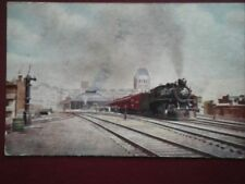 POSTCARD CANADIAN PACIFIC RLY 'EXPRESS AT WINDSOR ST STATION MONTREAL