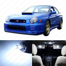 5 x White LED Interior Lights Package For 2002 - 2003 Subaru Impreza WRX STI